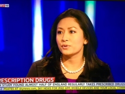 Dr Daisy discussing half of England taking prescription drugs