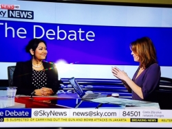 """Dr Daisy on Sky News with Jayne Secker discussing """"Dry January"""" and cutting down on alcohol."""