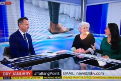 Dr Daisy discussing the pros and cons of Dry January on Sky News