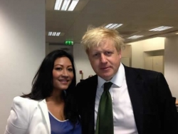 Dr Daisy with Boris Johnson